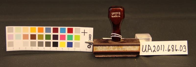 Carl A. Fehr Address Stamp, Large