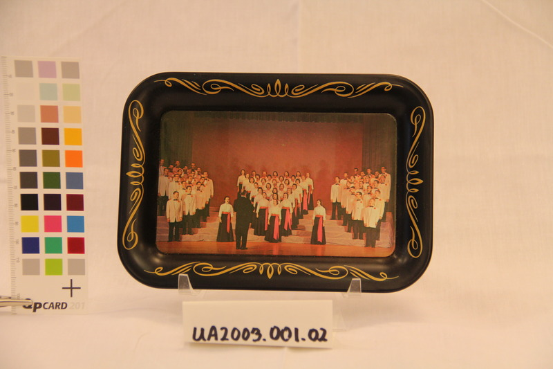 Tin Tray with Photo Applique