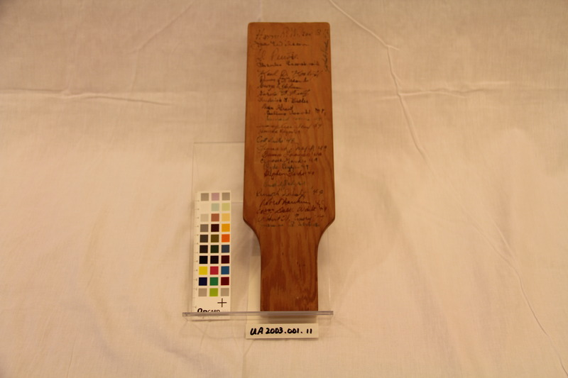 Phi Mu Alpha Paddle, 1949 (Back)