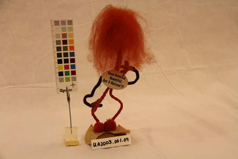 "Pipe Cleaner Doll, ""Get a haircut"""