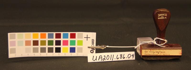 Carl A. Fehr Address Stamp, Small