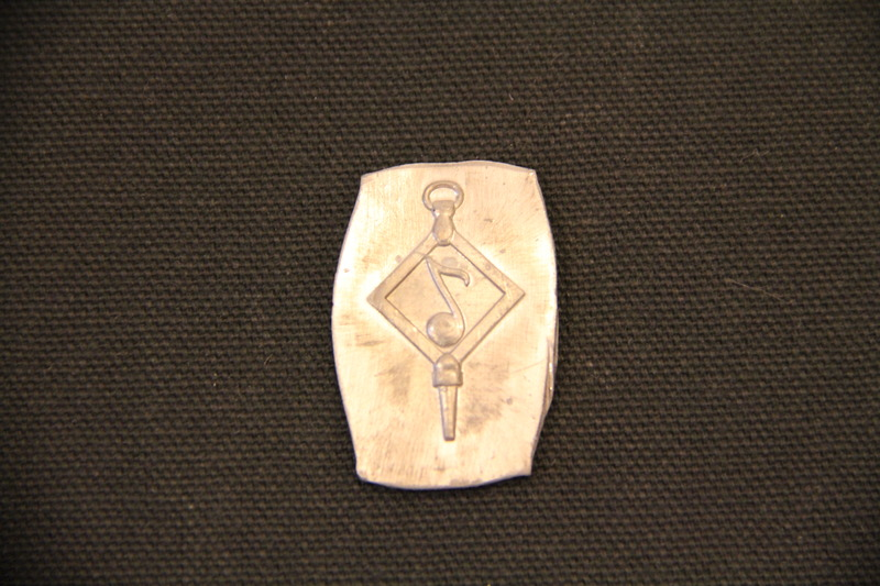 William and Mary Choir Medals, Fob with Eighth Note