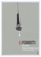 Film poster for <em>La Periodista</em>, a film by Tomás Gutiérrez Alea, designed by Idania del Río.