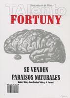 Film poster for Talento Fortuny se Venden Paraisos Naturales, a film by Tomás Gutiérrez Alea (Titón), designed by Javier Guerra Fernández.