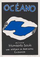 "Film poster for<em>Océano</em>, a film by Humberto Solás, designed by Jorge Perugorría <span class=""st"">Rodríguez</span>."