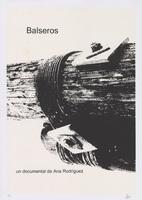 Film poster for Balseros, a film by Ana Rodríguez, designed by Pável Acosta.