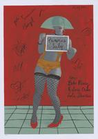 Film poster for <em>Paranoias Luly,</em> a film by Manuel Marzel, designed by Liudmila López Domínguez.