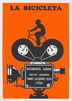 Film poster for <em>La Bicicleta</em>, a film by Tomás Gutiérrez Alea, designed by Reinerio Tamayo.