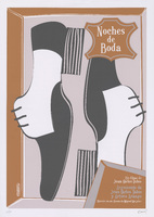 Film poster for <em>Noches de Boda,</em> a film by Juan Carlos Tabío, designed by Osmany Torres Martín.