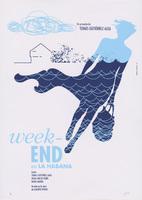 Film poster for <em>Weekend en la Habana</em>, a film by Tomás Gutiérrez Alea, designed by Giselle Monzón Calero.