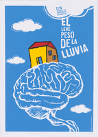 Film poster for <em>El leve peso de la lluvia</em>, a film by Enrique Álvarez Martínez, designed by David Alfonso Suárez.