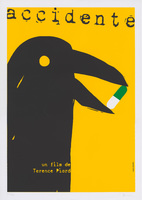Film poster for <em>Accidente</em>, a film by Terence Piard, designed by Darién Sánchez.