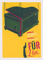 "Film poster for <em>Für Elise</em>, a film by Tomás Gutiérrez Alea, designed by Raúl ""Raupa""Valdés González."